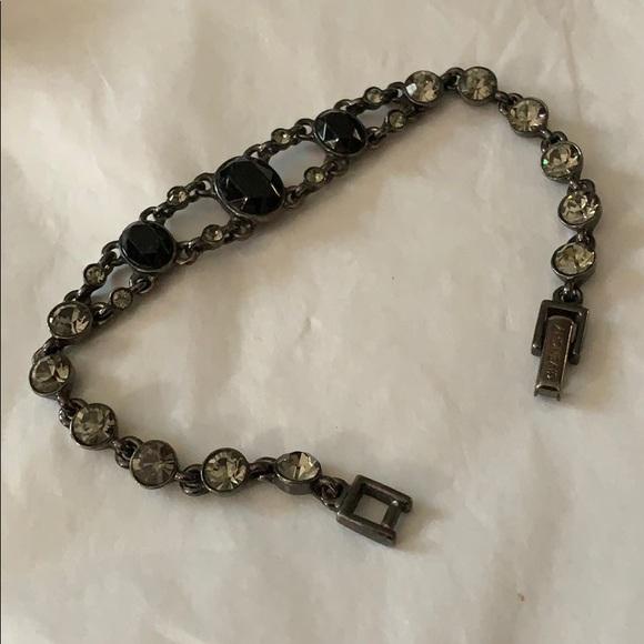 Givenchy Jewelry - GIVENCHY GUNMETAL & RHINESTONE BRACELET
